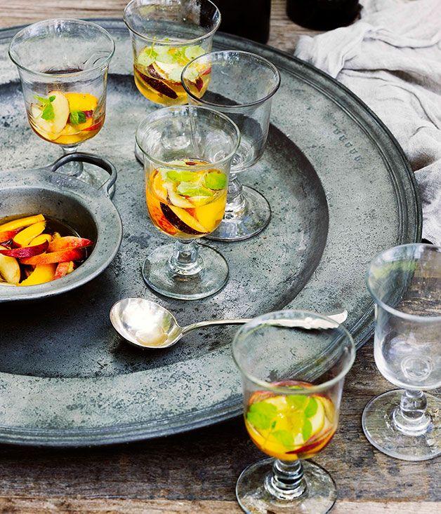 Peach, nectarine and sparkling Marsanne