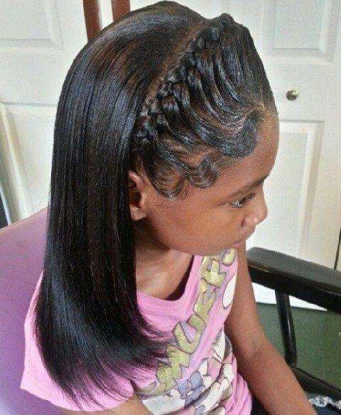 Sleek Half Updo For Black Girls