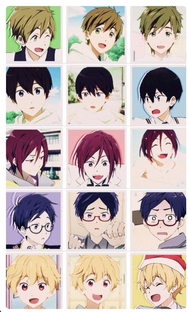 They are so cute!!! Mokoto, Haruka, Rin, Rei, and Nagisa!! •Free!•