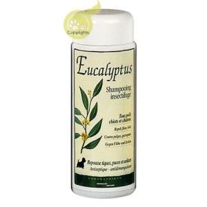 Shampooing insectifuge EUCALYPTUS (Tous Poils, chiots et chatons), NATUREA (200ml).  Repousse tiques, puces et aoûtats. Antiseptique et cicatrisant - antidémangeaison.         Shampooing très doux qui gaine le poil, recommandé pour les peaux fragilisées par les parasites ainsi que pour les chiots et les chatons à partir d'un mois. A découvrir sur www.lesamisdeceline.fr
