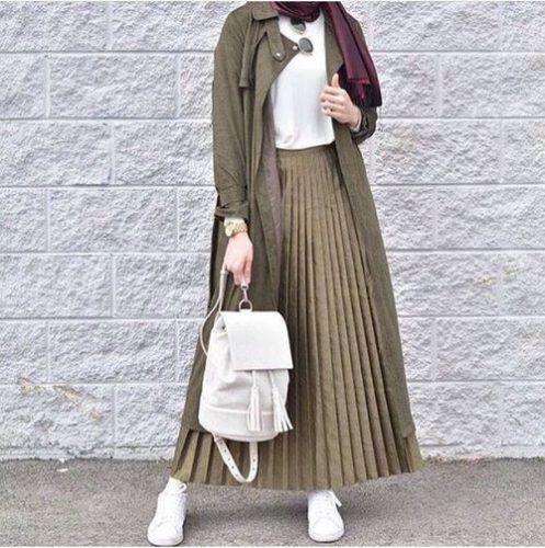 olive-khaki-modest-hijab- Military khaki hijab style http://www.justtrendygirls.com/military-khaki-hijab-style/