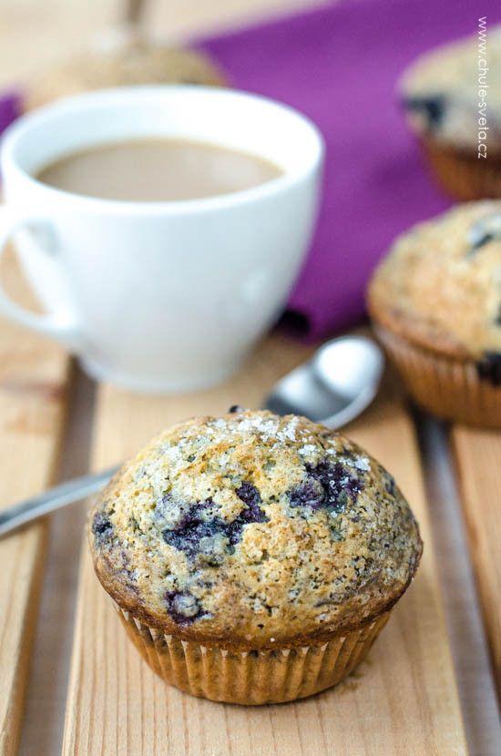 Borůvkovo-limetkové muffiny