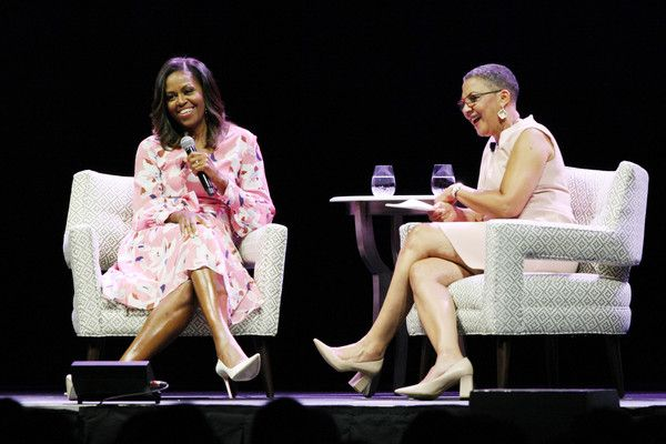 Michelle Obama Photos - Former First Lady Michelle Obama speaks, emphasizing that women must celebrate their strength, during a live conversation with The Women's Foundation of Colorado President and CEO Lauren Y. Casteel at Pepsi Center on July 25, 2017 in Denver, Colorado. - Michelle Obama Photos - 32 of 9409