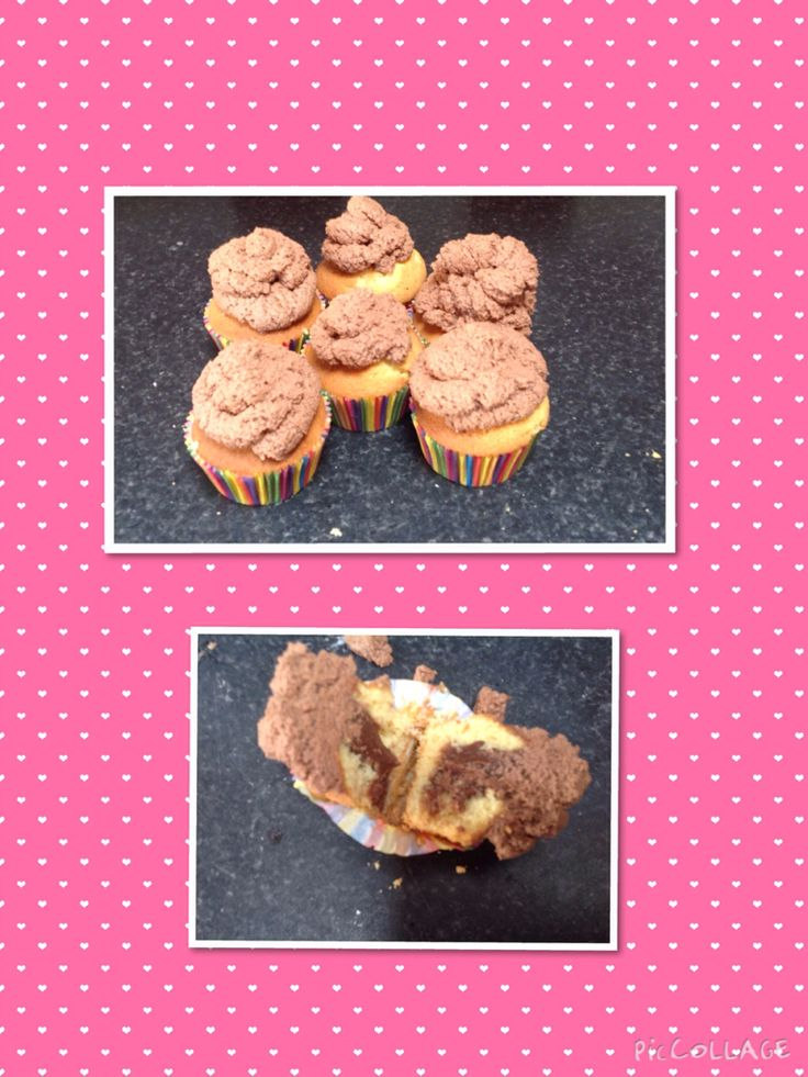 Chocolate ganache filled cupcakes (they look like poo)