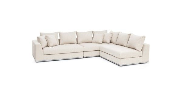 Luxe and low-slung, the three-piece modular Horizon sectional is built on a solid pine frame. But this crowd-pleaser is about more than just quality construction. With seven back cushions and four throw cushions, Horizon offers the kind of flair and flexibility necessary for modern living.