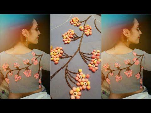 3d creative and innovative idea to design on blouse/ kurti/ chudidhar - YouTube