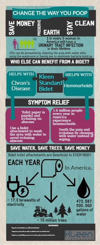 Many who suffer from Chron's disease, hemorrhoids and other inflammatory bowl diseases don't know about or realize the immense benefits and relief of a bidet toilet attachment in their home.