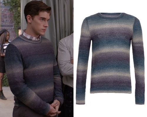 """Walt wore this blue ombre stripe sweater in """"I Heard A Rumour"""" and while it's sold out in blue, you can find similar styles and the sa..."""
