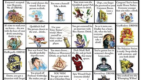 Harry Potter drinking board game Like this.