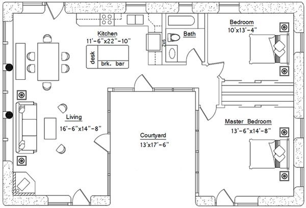 For Lindsey, I like U shaped homes, with the court yard in the middle. What do you think?