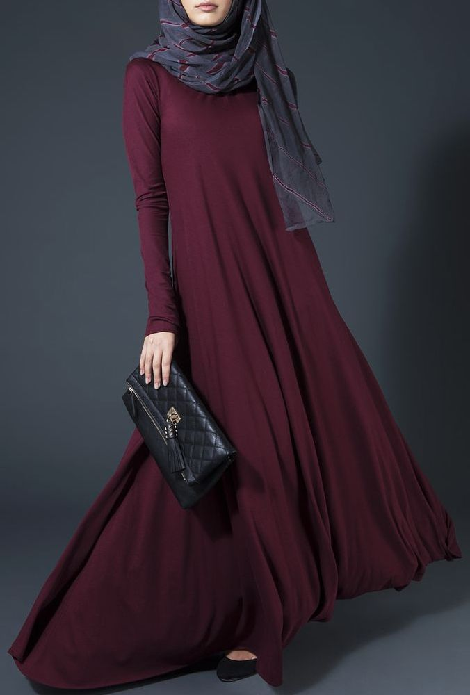 Fall| Elegant| formal| evenining| gown maxi| dress| clutch| grey viscose hijab