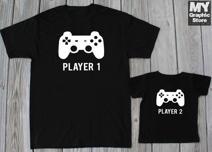Daddy Son Matching Shirts Player 1 Player 2 Matching Shirt Father Son Gaming Tee #MyGraphicStore #GraphicTee