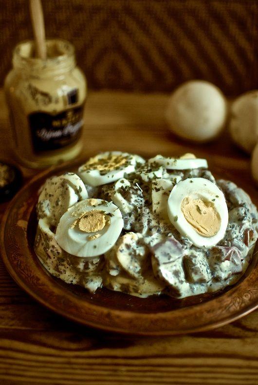 Eiersalat, ensalada de huevos con mostaza, receta alemana con Thermomix