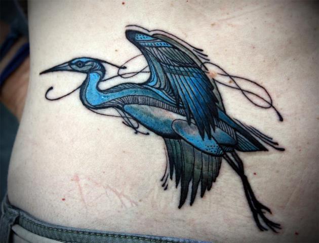 David Hale Tattoo | Heron