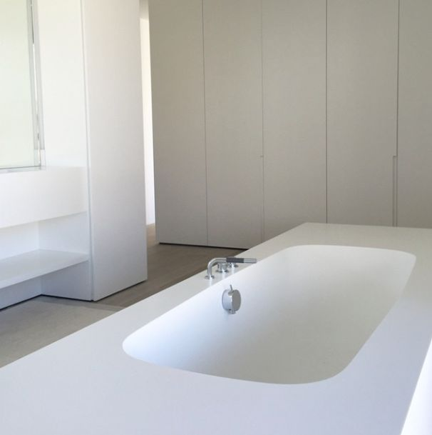 Bathroom of project H by Cubyc architects w/ Corian bath (we're official partner) I Deco-Lust