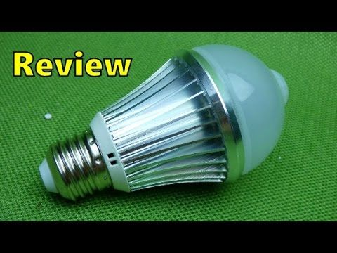 Sky Genius Motion Sensor LED Light Bulb Review - Great for Porch Bathroo...