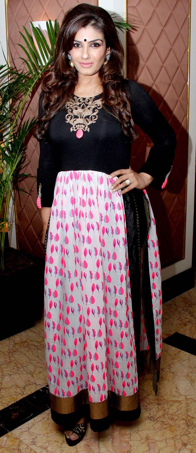 Raveena Tandon at a TV channel's launch. #Style #Bollywood #Fashion #Beauty