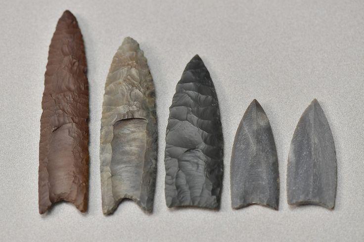 Réplicas de puntas Clovis. @ Universidad Estatal de Kent