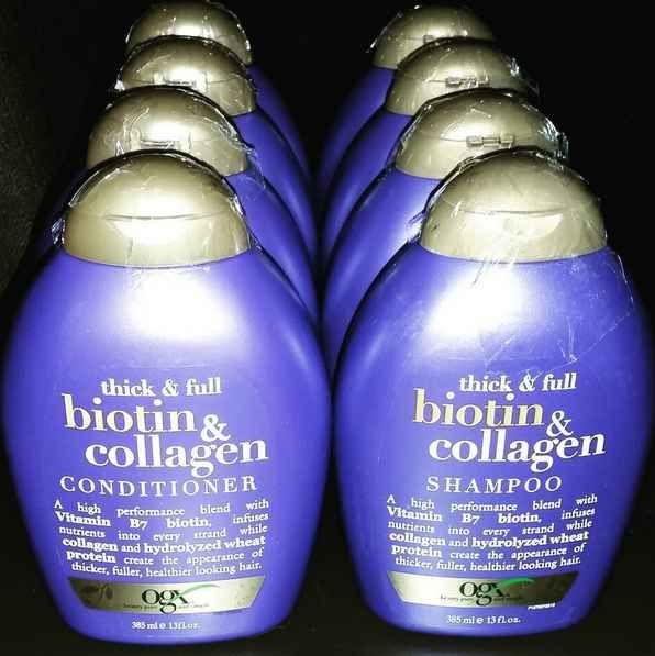 27 underrated hair products | Ogx Biotin and Collagen Shampoo
