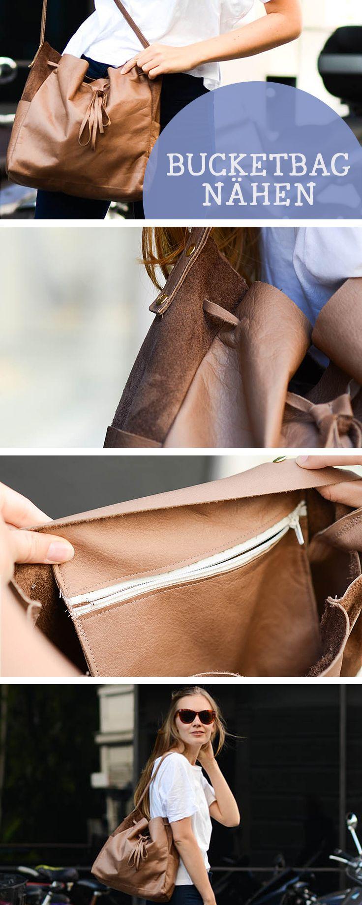 DIY-Nähanleitung: Große BucketBag nähen, Schultertasche, Mode nähen / diy sewing tutorial: sew your own bucket bag, fashion DIY ideas via DaWanda.com