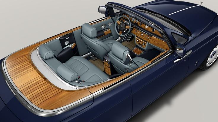 Rolls Royce Phantom Drophead Coupe - Azurite Blue/Powder Blue leather   Teak decking   Elm Cluster wood