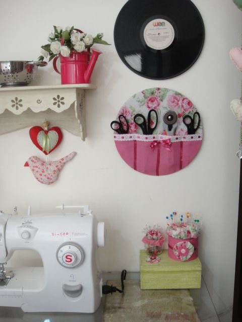 scissors and cutter Holder another great idea for my sewing room!: