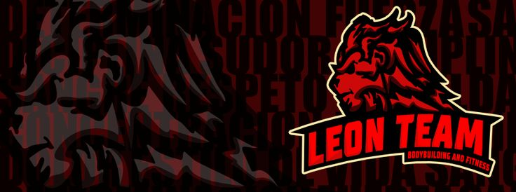 Leon Team Logo - Logotipo creado para equipo deportivo Competidores Fisicoculturismo