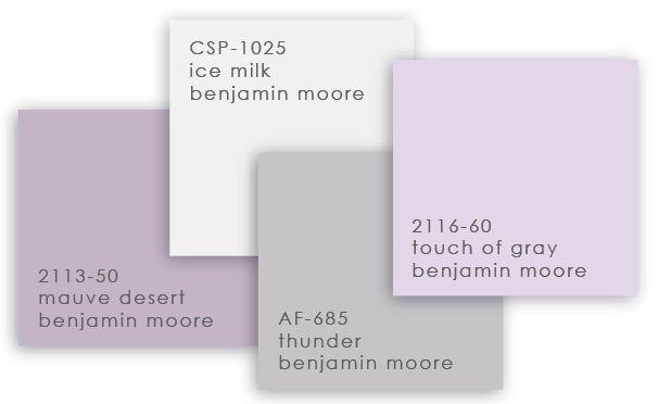 Benjamin Moore grey purple color scheme