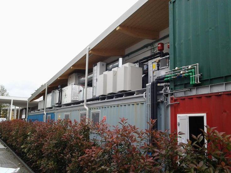 Impianto di aspirazione a flussi compensati - Macchine a tetto (Padiglione Principato di Monaco EXPO2015)