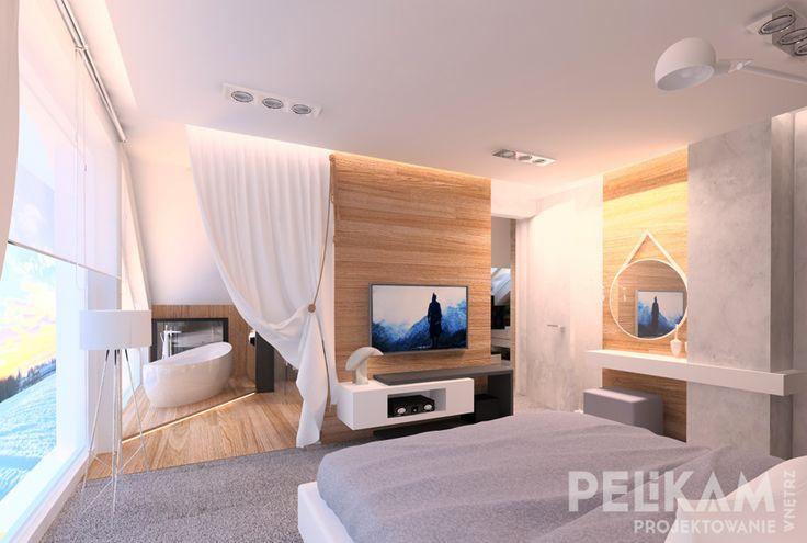 sypialnia z salonem kapielowym