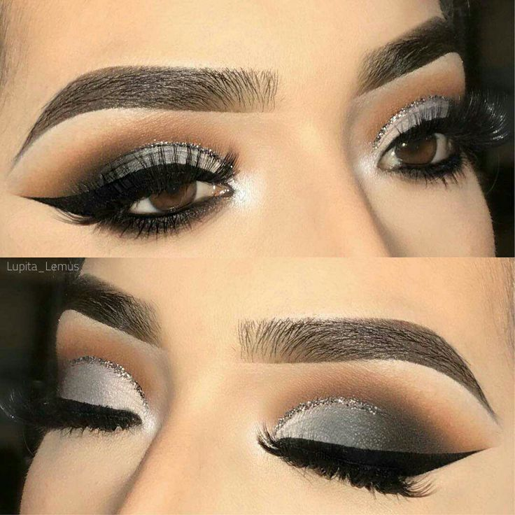 Smokey Glitter look is great for a night out on the town. #eyemakeup #makeup