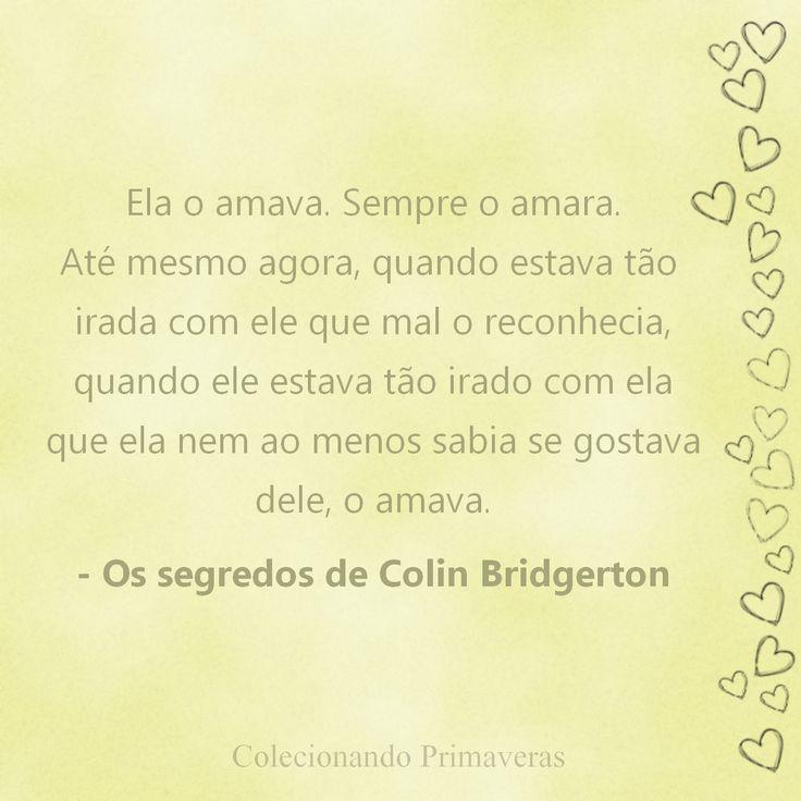 Colecionando Primaveras: {Quotes} Os Segredos de Colin Bridgerton