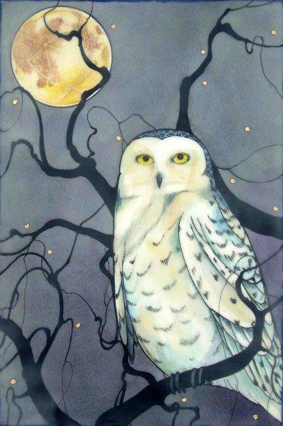 Snowy Owl Pinned by www.myowlbarn.com