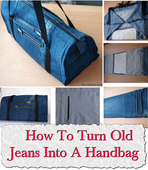 How To Turn Old Jeans Into A Handbag