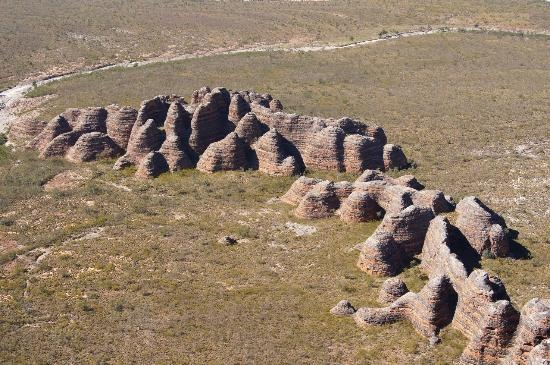 Purnululu National Park in Australia. These beehive rocks are around 60 to 100 metres high