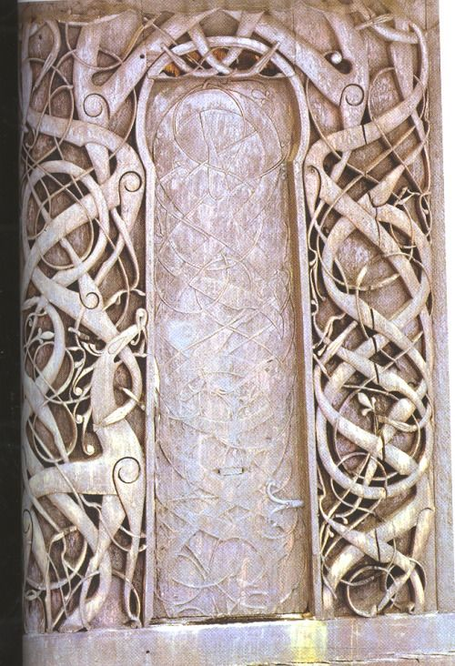 Vinwolfking Old Norse Knotwork On An Old Portal To The