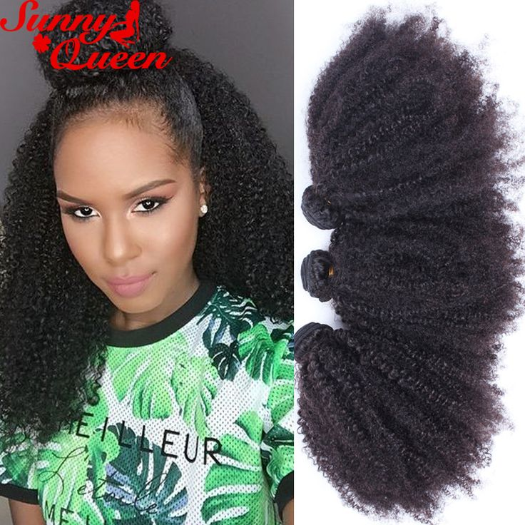 4B 4C Human Hair Extension 8A Brazilian Kinky Curly Virgin Hair 4Pcs Afro Kinky Curly Human Hair Weave SunnyQueen Hair Products
