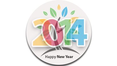 Strathcona's Happy New Year 2014 Button