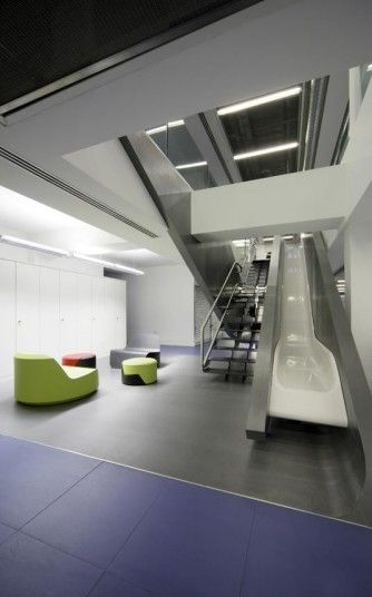 Red Bull UK Office. Complete with slide.