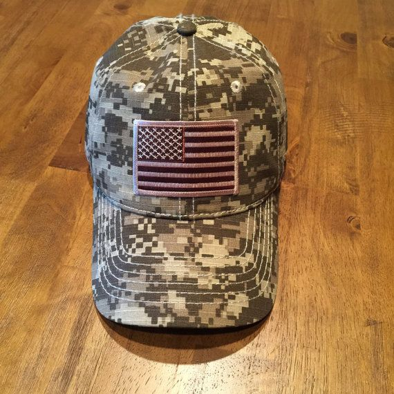 DAD HAT Desert American Flag/Tan Digital Camo Low Profile Hat