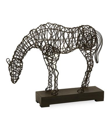 This Iron Woven Horse Statue is perfect! #zulilyfinds