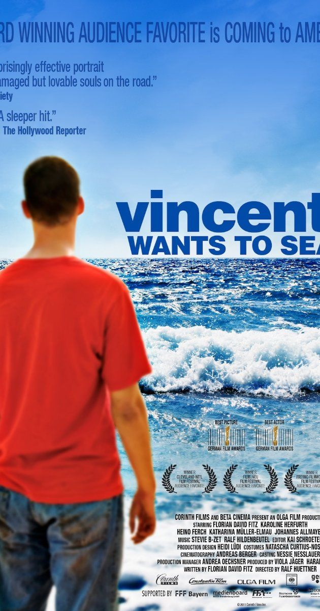 Vincent Wants to Sea (2010 - Germany).  Vincent suffers from Tourette's Syndrome and, after his mother's death, is institutionalized by his father. He ultimately escapes with two fellow patients -- an anorexic named Marie and the obsessive-compulsive Alexander. His mission is simple. He wants to bury his mother's ashes in the seas off Italy, as was her dying wish.