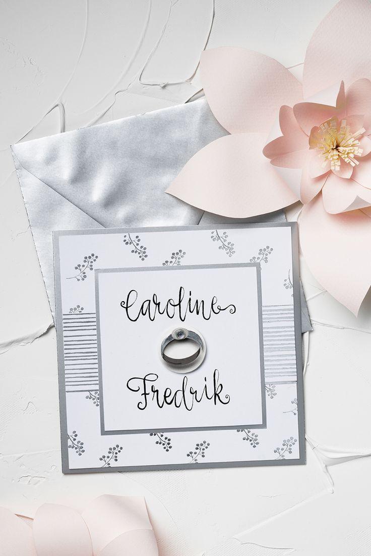 Wedding card www.panduro.com #DIY #silver