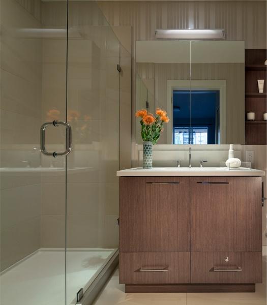 Sail | Ensuite tiled shower surround with low-flow Kohler shower head