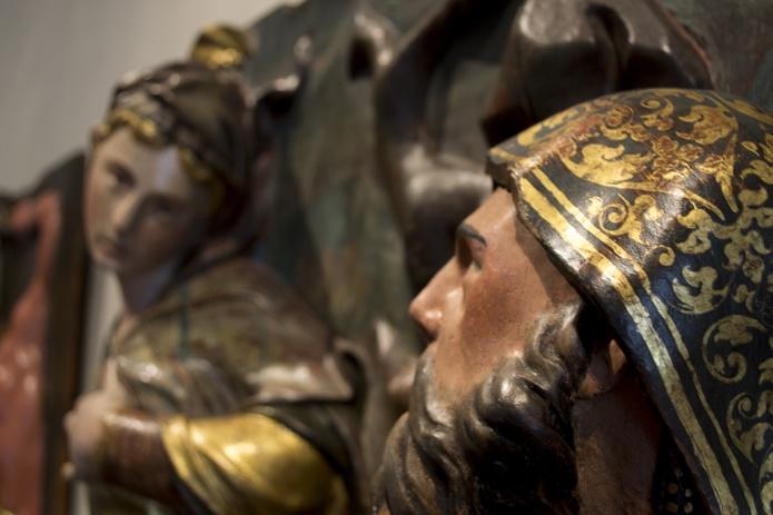 Tentaciones de San Antonio Abad. Leonardo Carrión y Diego Rodríguez. Siglo XVI