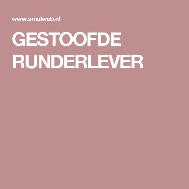 GESTOOFDE RUNDERLEVER