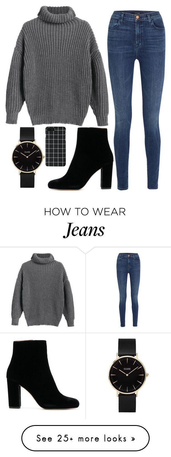 """#101"" by iamariot7 on Polyvore featuring J Brand and CLUSE #casualwinteroutfit"