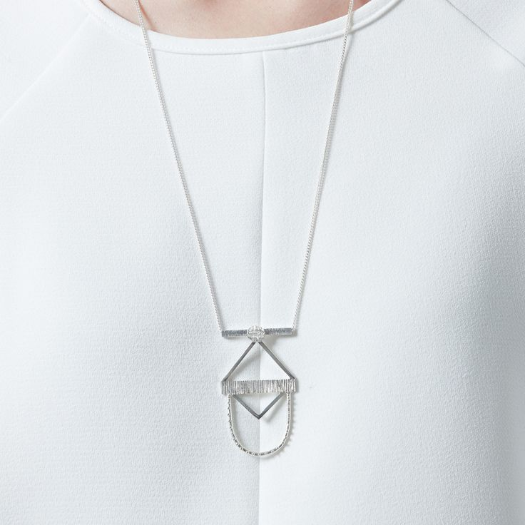 Scarab necklace, sterling silver $385