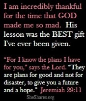 Thank you God for carrying me through those rough times!