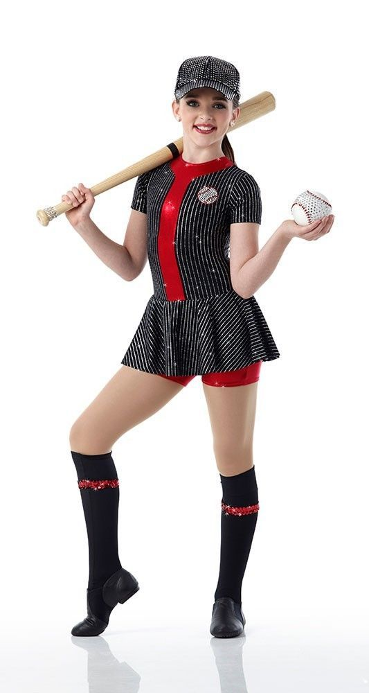 BATTER UP Unitard w/Socks Dancewear BASEBALL Dance Costume Child & Adult Sizes #Cicci